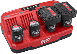 M12-4-Bay-Battery-Charger